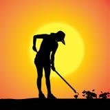 Vectorsilhouet van een tuinman Royalty-vrije Stock Fotografie
