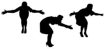 Vectorsilhouet van een vrouw Stock Foto