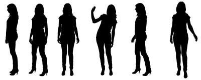 Vectorsilhouet van een vrouw Royalty-vrije Stock Foto