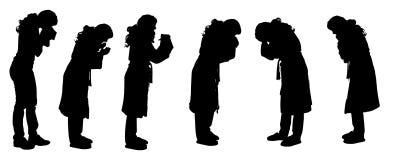 Vectorsilhouet van een vrouw Stock Afbeeldingen