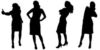 Vectorsilhouet van een vrouw Royalty-vrije Stock Fotografie