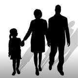 Vectorsilhouet van familie Stock Foto's