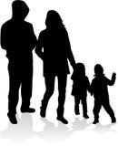 Vectorsilhouet van familie Stock Fotografie