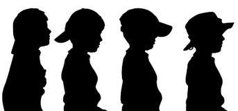Vectorsilhouet van jongen Royalty-vrije Stock Afbeeldingen
