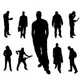 Vectorsilhouet van mensen Stock Foto