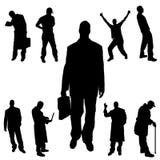 Vectorsilhouet van mensen Royalty-vrije Stock Afbeelding