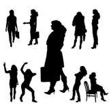 Vectorsilhouet van mensen Royalty-vrije Stock Afbeeldingen