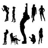 Vectorsilhouet van mensen Royalty-vrije Stock Foto