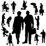 Vectorsilhouet van mensen Royalty-vrije Stock Foto's