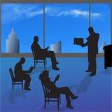 Vectorsilhouet van mensen Royalty-vrije Stock Fotografie