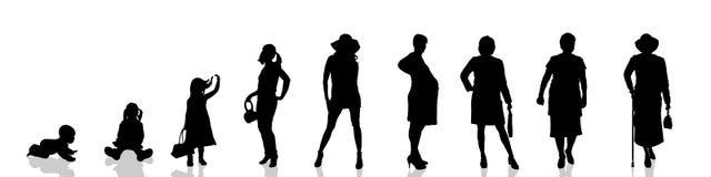 Vectorsilhouet van mensen Stock Foto's