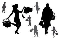 Vectorsilhouet van mensen royalty-vrije illustratie