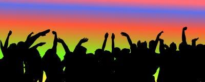Vectorsilhouet van mensen die dansen vector illustratie