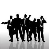 Vectorsilhouet van zakenman Stock Foto's