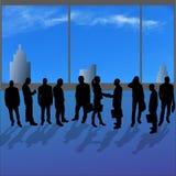 Vectorsilhouetten van diverse mensen Stock Foto