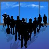 Vectorsilhouetten van diverse mensen Stock Fotografie