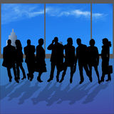 Vectorsilhouetten van diverse mensen Royalty-vrije Stock Fotografie