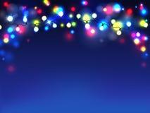 Vectorslingers op blauwe achtergrond Diffuse lichten vector illustratie