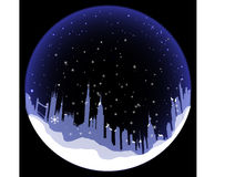 Vectorsneeuwbal met het silhouet van Londen Royalty-vrije Stock Afbeelding