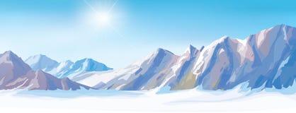 Vectorsneeuwbergen vector illustratie