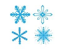 Vectorsneeuwvlokken die voor Kerstmisontwerp worden geplaatst stock illustratie
