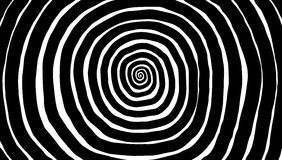 Vectorspiraal, achtergrond Hypnotic, dynamische draaikolk stock illustratie