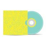 Vectorspot op malplaatje van lege CD met dekking Royalty-vrije Stock Fotografie