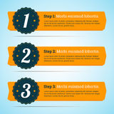 Vectorstappen, vooruitgangsbanners in vlakke stijl voor infographic u Stock Afbeelding