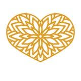 Vectorstencil kanten hart met gesneden openwork patroon malplaatje Royalty-vrije Stock Afbeelding