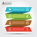 Vectorstrepen voor infographic Royalty-vrije Stock Foto's