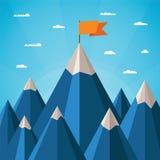 Vectorsuccesconcept met berglandschap royalty-vrije illustratie