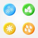 Vectorsymbolen van 4 seizoenen vector illustratie