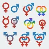 Vectorsymbolen van seksuele geaardheid en geslacht Stock Afbeelding