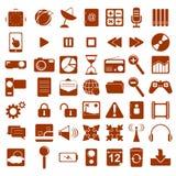 Vectorsymbolen Van verschillende media Stock Fotografie