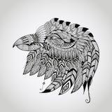Vectortatoegering Eagle Head Royalty-vrije Stock Afbeeldingen