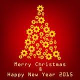 Vectortechnologie vrolijke Kerstmis Royalty-vrije Stock Afbeelding