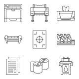 Vectortechnologiepictogrammen Royalty-vrije Stock Afbeelding