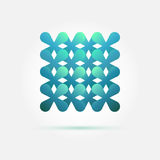 Vectortechnologiesymbool in zachte groene kleuren stock illustratie