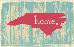 Vectorteken van de staat van Noord-Carolina het nostalgische rustieke uitstekende vector illustratie