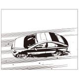 Vectortekening van auto Royalty-vrije Stock Foto's