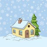 Vectortekening van een huis Stock Foto