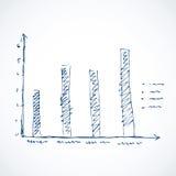 Vectortekeningsschets van grafiekkolom Stock Foto