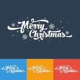 Vectortekst op kleurenachtergrond Het vrolijke Kerstmis van letters voorzien voor uitnodiging Royalty-vrije Stock Fotografie
