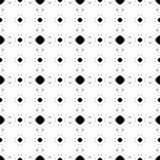 Vectortextuur, minimalistisch geometrisch naadloos patroon, zwarte & w Royalty-vrije Stock Foto