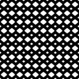 Vectortextuur van netwerk, rooster Zwart-wit naadloos patroon Stock Fotografie