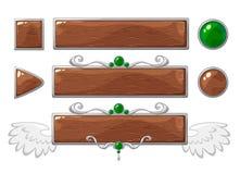 Vectortitel houten banners Royalty-vrije Stock Fotografie