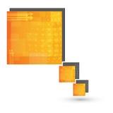 Vectortoespraak bel-tekst vakje ontwerp stock foto
