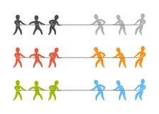 Vectortouwtrekwedstrijdembleem en pictogram Royalty-vrije Stock Afbeelding