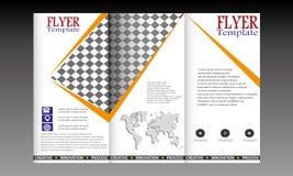 Vectortrifold-geplaatste Vliegermalplaatjes Stock Afbeelding