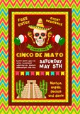 Vectoruitnodiging voor Mexicaanse Cinco de Mayo-partij